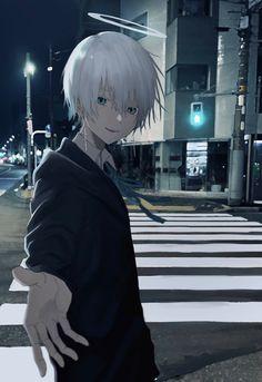 Anime Demon Boy, Anime Boy Hair, Dark Anime Guys, Cool Anime Guys, Cute Anime Boy, Anime Boys, Anime Kawaii, Anime Chibi, Anime Art