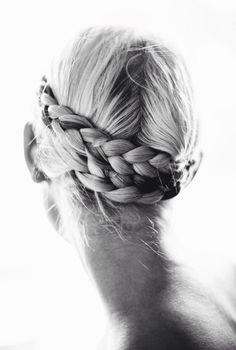 Double dutch braid crown with sharp middle parting - almost mastered this!