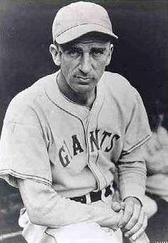 Carl Hubbell (1903 - 1988) Hall of Fame baseball player, he was a pitcher with the New York Giants known for his mastery of the screwball pitch