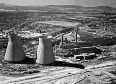 Both the and the Athlone power station were completed at virtually the same time. Old Pictures, Old Photos, Cities In Africa, Cape Town, Historical Photos, Travel Brochure, Most Beautiful Cities, Places Of Interest, Under Construction