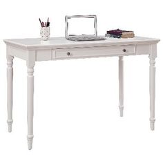 Plumeria Vintage Style Desk - really like the look of this desk. I fear it wouldn't look as clean after a week of work in my office!