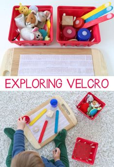 Velcro is a texture that enlightens the senses. It gives children an experience that is different than other materials based on how it feels. Giving children lots of exposure to multiple sensory textures.