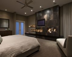 Contemporary Bedroom. Love this