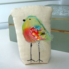 bird  sculpture fabric bird mixed media bird bird by tracyBdesigns, $12.00