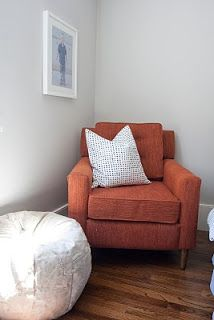 BM Gray Owl paint color... Could be beautiful with dark grey windows and cream trim?  Caitlin Creer Interiors: spring lane