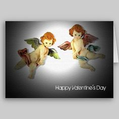Twin Cupids Valentine's Day Card from www.zazzle.com/stevebrownleeart
