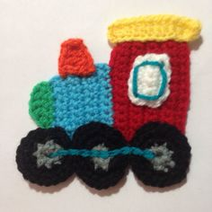 Crochet a Cute Train Applique for your Kid