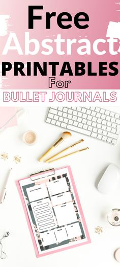 Free Abstract Bullet Journal Printables - Rad Planner Free Planner Pages, Printable Planner Pages, Free Printable Calendar, Calendar Pages, Templates Printable Free, Planner Stickers, Journal Stickers, Bullet Journal Goals Layout, Bullet Journal Hacks