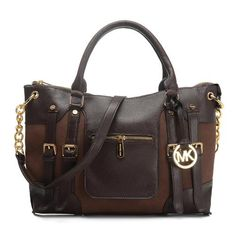 Cheap Michael Kors Leigh Large Coffee Satchels Clearance