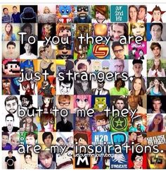 LDShadowLady,Smallishbeans,Ihascupquake,Dan and Phil Markiplier, Pewdiepie, Caspar Lee, Joe Sugg, The Maxx, Youtube Gamer, Joey Graceffa, Danisnotonfire And Amazingphil, Smosh