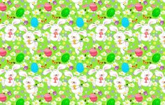 Wallpapers on desktop. Wallpaper flowers, eggs, chamomile, butterfly, rabbits, Easter to download.