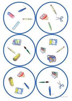 Gry w języku niemieckim lekcji: Dobble - szkolne cards / 4 symbole) English Activities, Language Activities, Kindergarten Activities, Activities For Kids, Teaching English, Learn English, Circle Game, Esl Resources, Classroom Games