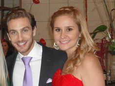 my friend with her cousin, Mexican soap opera star, Eugenio Siller...hottie!