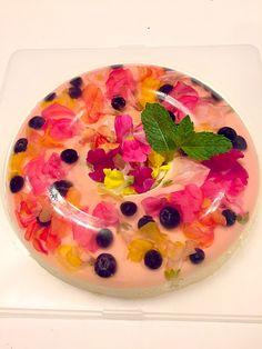 なぎさ's dish photo お花のババロア 再現バージョン | http://snapdish.co #SnapDish #おやつ #パーティー…