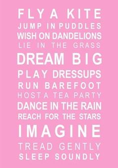 For my daughter....you've already ticked a few of these off!! Let's be sure to do them all xx