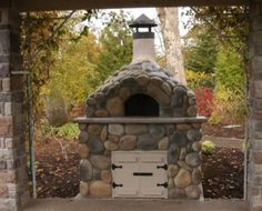 Eric and I are looking for the right outdoor brick oven style...love this one!