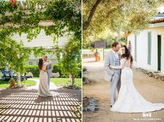 Bride and Groom's First Dance in Victorian Garden at Spanish-style venue during outdoor rustic wedding reception #weddingphotography / national wedding photographers