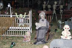 halloween yard  decor..... Brown Asylum