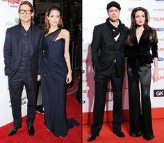 Parejas de celebridades que se visten igual: Brad Pitt y Angelina Jolie
