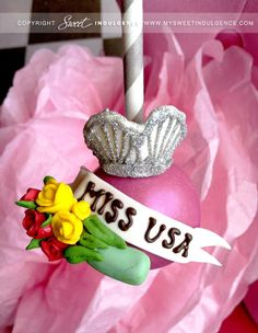 Miss USA Cake Pops--I will definitely have to bake these sometime! How cute! #missusa #baking