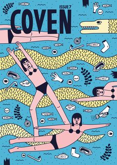 파랑 노랑 분홍 하일이/Coven magazine cover by Martina Paukova www.martinapaukova.com
