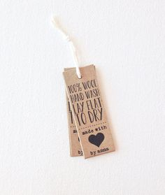 product tags - custom packaging tags - handmade with love tags - made with love - kraft brown tags on Etsy, $12.00