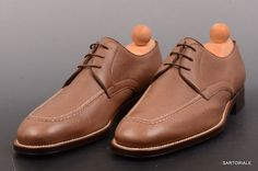 """RUBINACCI Napoli """"Derby"""" Brown Leather Casual Dress Norwegian Shoes 41 NEW US 8"""
