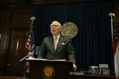 "Gov. Nathan Deal said he would veto the ""religious liberty"" legislation on Monday. Bob Andres/AJC Photo"