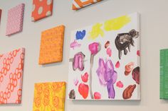 Art on a gallery wall diy tutorial from spoonflower diy wand, kids canvas a Kids Canvas Art, Diy Canvas, Canvas Wall Art, Kid Art, Diy Wand, Art Projects, Sewing Projects, Fat Quarter Projects, Diy Crafts For Kids