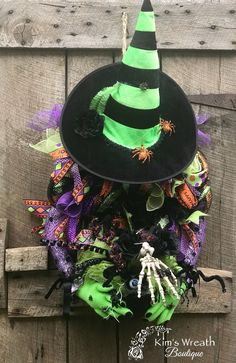 Excited to share this item from my #etsy shop: Halloween Wreath, Witch Wreath, Halloween Decorations, Halloween Decor, Halloween Cauldron, Halloween Witch Decor, Witch Decorations Halloween Deco Mesh, Halloween Witch Hat, Halloween Decorations, Halloween Wreaths, Witch Wreath, Witch Decor, Wicked Witch, Birthday Board, Cauldron