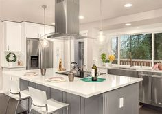 Image Result For Gray Shaker Cabinets White Countertops