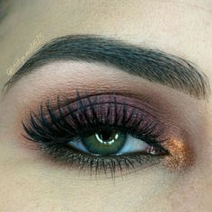 Makeup Geek Eyeshadows in Bitten, Cocoa Bear, Corrupt, Creme Brulee and Peach Smoothie. Look by: Colorcoatedbeauty: