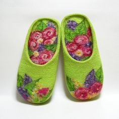 The scent of summer handmade felt slippers made to order