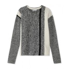 T by Alexander Wang Tweed Pullover Sweater (25.910 RUB) ❤ liked on Polyvore
