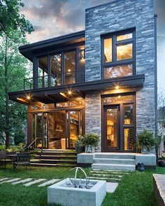 Love the stone finish and the overhang