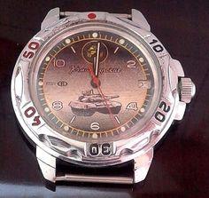 Vintage Russia USSR Commander. Mechanical watch 2414 The Armata tank. #Vostok #Diver