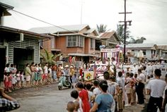 of July Parade. Salamanca Street, Cavite City July 1961 By William S. 4th Of July Parade, Cool Photos, Interesting Photos, Philippines, Street, Manila, Filipino, Nostalgia, Colorful