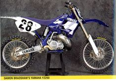 Damon Bradshaw Yamaha YZ 250 1996 Yamaha Motocross, Yamaha Wr, Beast From The East, Dirtbikes, Vintage Bikes, Motorbikes, It Works, Racing, Motorcycles