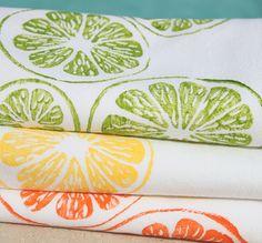 citrus kitchen towels