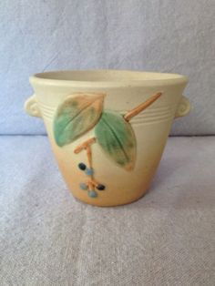 "Vintage Weller Pottery Cornish Vase 3 1 2"" | eBay"
