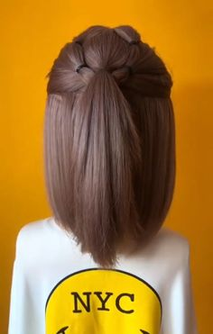 40 Cute and Cool Hairstyles for Teenage Girls 40 Cute and Cool Hairstyles for Teenage Girls<br> Cute Hairstyles For Teens, Easy Hairstyles For Medium Hair, Teenage Hairstyles, Fancy Hairstyles, Little Girl Hairstyles, Hairstyles Videos, Short Hair For Kids, Very Short Hair, Short Hair Styles Easy