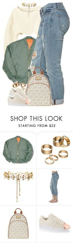 """""""Untitled #1601"""" by power-beauty ❤ liked on Polyvore featuring Apt. 9, Erickson Beamon, MICHAEL Michael Kors and adidas Originals"""