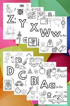 Preschool Phonics, Preschool Learning Activities, Alphabet Activities, Preschool Coloring Pages, Alphabet Coloring Pages, Math Workbook, Learning The Alphabet, Letter Recognition, Letter Sounds
