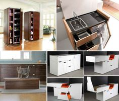 whole collection of mini, mobile, modular and motorized kitchens.