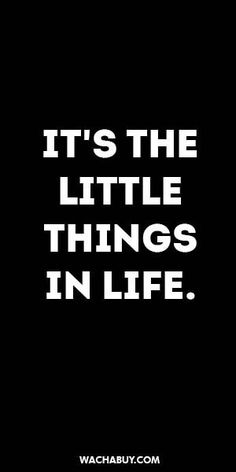 #inspiration #quote / IT'S THE LITTLE THINGS IN LIFE.