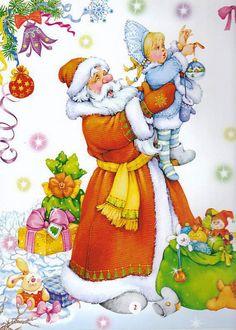 Новогодние иллюстрации Марины Федотовой