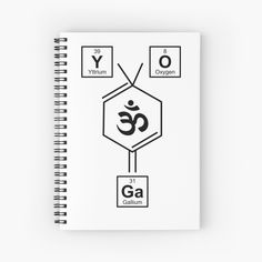Periodic Elements, Namaste Yoga, Weird Holidays, Yoga Gifts, My Notebook, Meaningful Gifts, Spelling, Spiral, Periodic Table