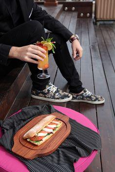 Wooden Burger Tray %100 Handmade Burger Plate Luxury Steak Tray Style Tray Chopping Board