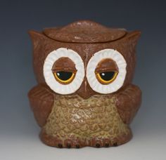 Owl cookie jar from vintage mold by apiecebydenise on Etsy, $45.00