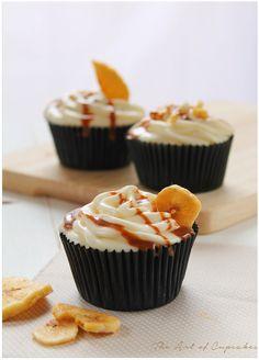 banoffee cupcakes (cupcakes de banana y dulce de leche)